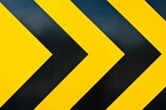 Het gele en zwarte merken Stock Foto's