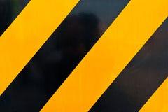 Het gele en Zwarte Merken Royalty-vrije Stock Fotografie
