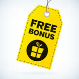 Het gele leer detailleerde bedrijfsetiketten vrije bonus vector illustratie