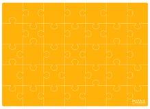 Het gele malplaatje van het Raadselsnet Puzzel 24 stukken vector illustratie