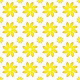 Het gele Naadloze Patroon van de Bloem Stock Afbeelding