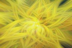 Het gele onduidelijke beeld van het achtergrondstralenpatroon grafische werveling royalty-vrije illustratie