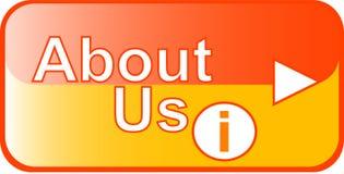Het gele pictogram van het Web van de Knoop over ons vector illustratie