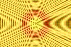 Het gele rood stippelde halftone Concentrische cirkel gestippelde gradiënt Halftintachtergrond vector illustratie