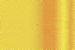Het gele rood stippelde halftone Contrast verticale gestippelde gradiënt Halftintachtergrond royalty-vrije illustratie