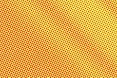 Het gele rood stippelde halftone Diagonale frequente gestippelde gradiënt Halftintachtergrond vector illustratie