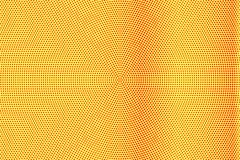 Het gele rood stippelde halftone Frequente verticale gestippelde gradiënt Halftintachtergrond stock illustratie