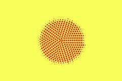 Het gele rood stippelde halftone Gecentreerde vlek gestippelde gradiënt Halftintachtergrond stock illustratie