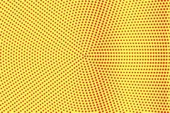 Het gele rood stippelde halftone Ruwe gecentreerde gestippelde gradiënt Halftintachtergrond stock illustratie