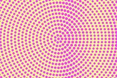 Het gele roze stippelde halftone Ronde cirkel gestippelde gradiënt Halftintachtergrond stock illustratie