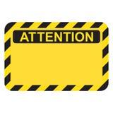 Het gele teken van de waarschuwings lege aandacht royalty-vrije illustratie