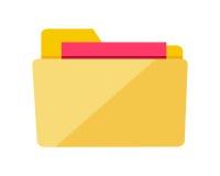 Het gele Teken van de Webomslag met Documenten Interface Royalty-vrije Stock Afbeeldingen