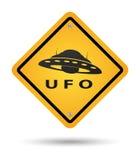 Het gele teken van Ufo Stock Afbeeldingen