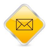 Het gele vierkante pictogram van de post Royalty-vrije Stock Afbeeldingen