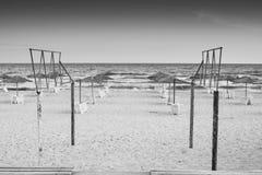 Het gelijk maken bij het strand Stock Foto's