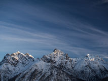 Het gelijk maken in de bergen Stock Afbeeldingen