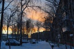 Het gelijk maken in de polaire stad royalty-vrije stock fotografie