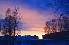 Het gelijk maken in de polaire stad stock fotografie
