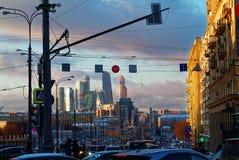 Het gelijk maken in het centrum van Moskou Royalty-vrije Stock Afbeelding