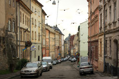 Het gelijk maken in Lviv na de regen Stock Fotografie