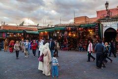 Het gelijk maken in Marrakech Stock Foto