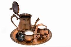 Het gelijk maken met koffie. Stock Fotografie
