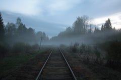 Het gelijk maken op de oude spoorweg Stock Afbeeldingen