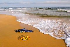 Het gelijk maken op een strand. Royalty-vrije Stock Afbeeldingen