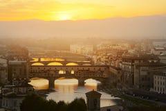 Het gelijk maken over Florence royalty-vrije stock afbeelding