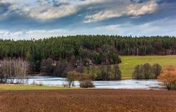 Het gelijk maken in Tsjechisch platteland 31 December Stock Foto
