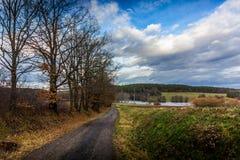 Het gelijk maken in Tsjechisch platteland 31 December Royalty-vrije Stock Fotografie