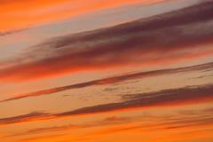 Het gelijk maken van rode zonsondergangtextuur royalty-vrije stock foto's