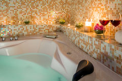 Het gelijk maken van romantisch bad Stock Fotografie