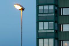 Het gelijk maken van stedelijk landschap Royalty-vrije Stock Afbeeldingen