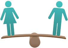 Het gelijke mannelijke vrouwelijke saldo van de geslachtsgelijkheid Royalty-vrije Stock Afbeelding