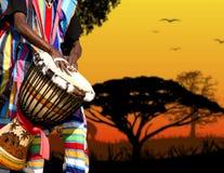 Het geluid van Afrika Stock Afbeeldingen