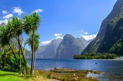 Het Geluid van Milford Ergens in Nieuw Zeeland Royalty-vrije Stock Afbeelding