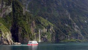 Het Geluid van Milford, Nieuw Zeeland Stock Foto