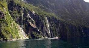 Het Geluid van Milford, Nieuw Zeeland Royalty-vrije Stock Afbeeldingen
