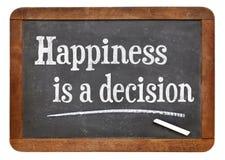 Het geluk is een besluit royalty-vrije stock afbeelding