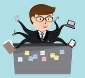 Het geluk van administratieve arbeider, bedrijfsconcept, vector Stock Afbeeldingen