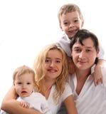 Het geluk van de familie Stock Afbeeldingen