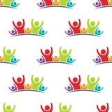 Het geluk van de familiegroep mensen Royalty-vrije Stock Afbeelding
