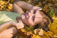 Het geluk van de herfst stock afbeelding