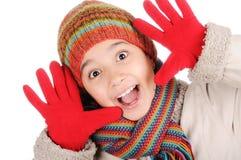 Het geluk van de winter Stock Afbeeldingen