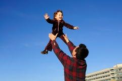 Het geluk van het kind Stock Foto's