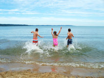 Het geluk van het strand stock fotografie