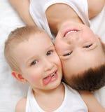 Het Geluk van kinderen Stock Afbeeldingen
