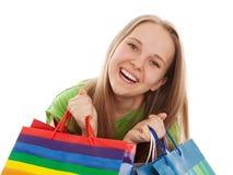De gelukkige klant stock foto