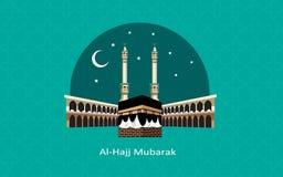 Het gelukkige al hajj Mubarak vieren stock afbeelding